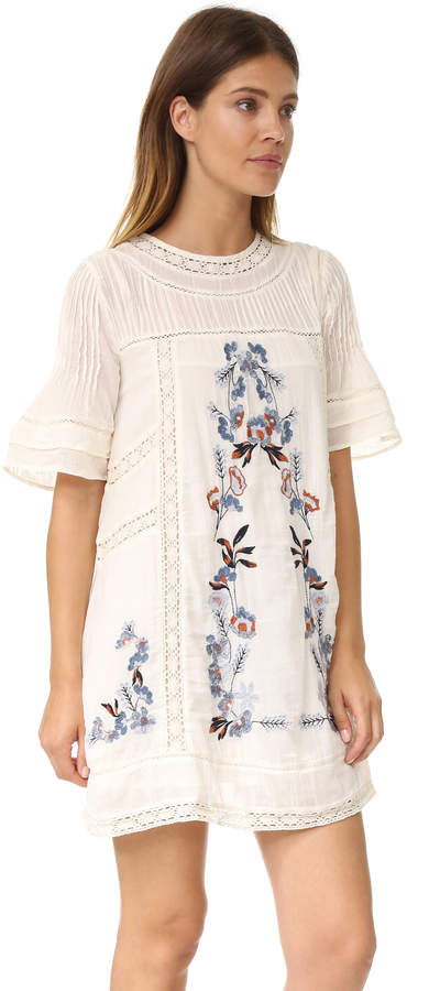 Free People Perfectly Victorian Embroidered Mini Dress 6
