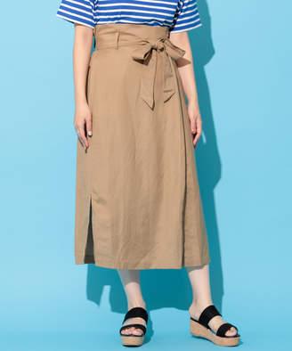 Discoat (ディスコート) - ディスコート ラミーレーヨンラップ風ロングスカート