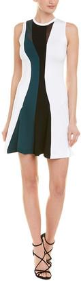 Cushnie Et Ochs Sheer Panel A-Line Dress