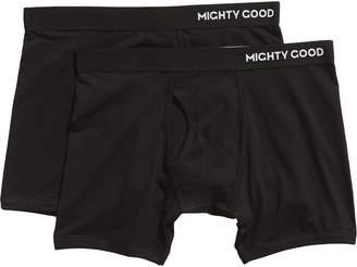 e83aae81eb30 MIGHTY GOOD UNDIES 2-Pack Organic Cotton Blend Boxer Briefs