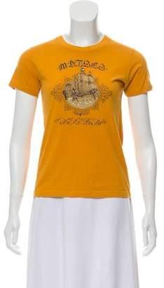 Oscar de la Renta Embellished Graphic Print T-Shirt