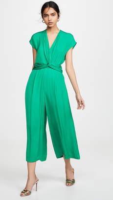 Edition10 V Neck Wrap Waist Jumpsuit