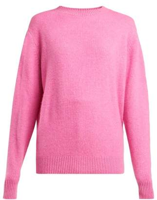 The Elder Statesman Round Neck Cashmere Sweater - Womens - Pink