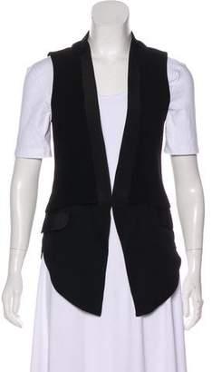 Haute Hippie Silk-Accented Shawl Lapel Vest