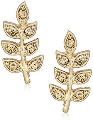 "lonna & lilly Lilac Breeze"" Gold-Tone/ Leaf Stud Earrings"