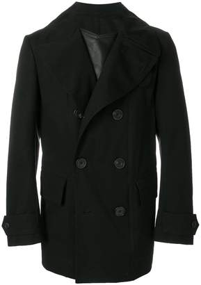 Alexander McQueen leather insert trench coat