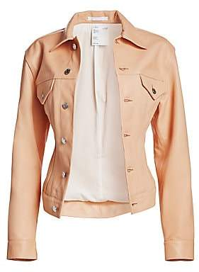 Helmut Lang Women's Under Construction Femme Leather Trucker Jacket