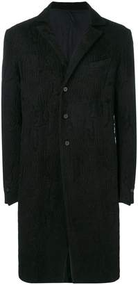 Masnada textured single-breasted coat