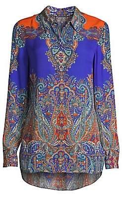 Elie Tahari Women's Paisley Print Blouse