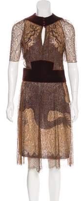 Jean Paul Gaultier Dragon Print Midi Dress