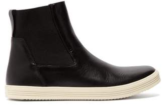 Rick Owens Mastodon Leather Chelsea Boots - Mens - Black White