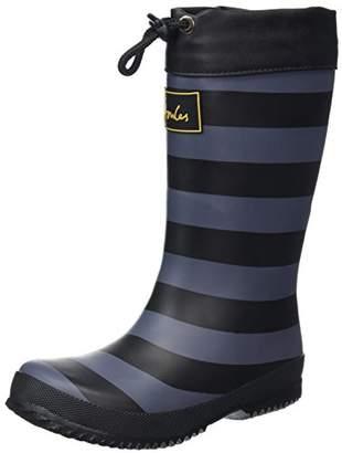 Joules Boys' Winter Welly Wellington Boots, (Black Stripe), 11 Child UK 30 EU