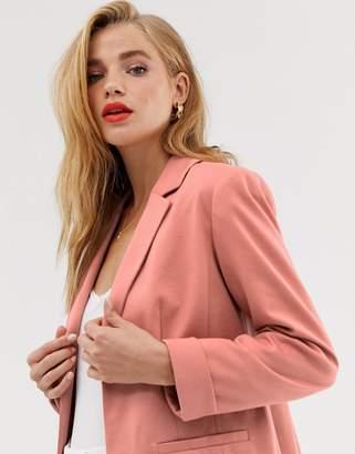 Miss Selfridge blazer in blush