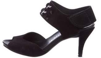 Pedro Garcia Embellished Suede Sandals