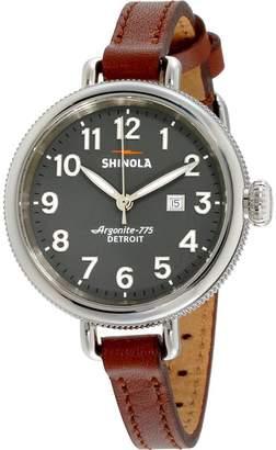 Shinola Women's The Birdy 34mm Leather Band Steel Case Quartz Watch 20077931