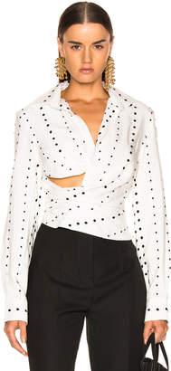 Jacquemus Nissa Top in Black Polka Dots | FWRD