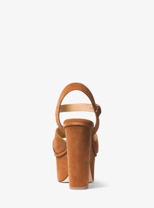 187c5d96cc2 MICHAEL Michael Kors Divia Suede Platform Sandal