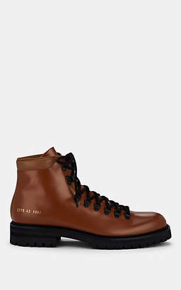 Common Projects Men's Leather Hiking Boots - Lt. brown