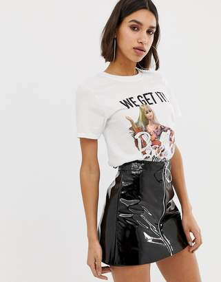 Missguided Barbie Festival Slogan T-Shirt