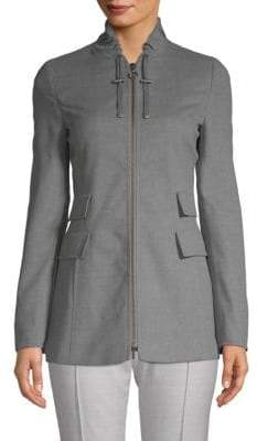 Akris Long-Sleeve Wool Jacket