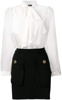 Elisabetta Franchi sheer shirt dress