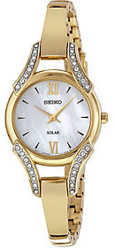Seiko Women's Solar Goldtone Stainless Steel Watch $285 thestylecure.com