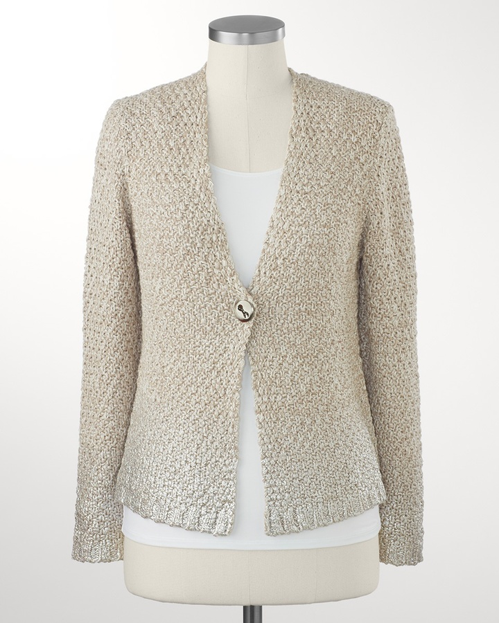 Coldwater Creek Silver dipped cardigan