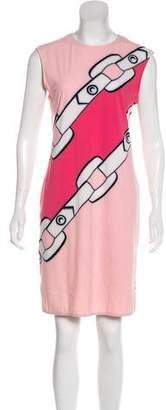 Leroy Veronique Printed Knee-Length Dress
