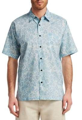 Saks Fifth Avenue COLLECTION Floral Print Hawaiian Shirt