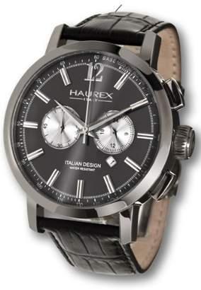 Haurex Italy Men's 9J330UGS Maestro Black PVD Case Chronograph 24 Hour Watch