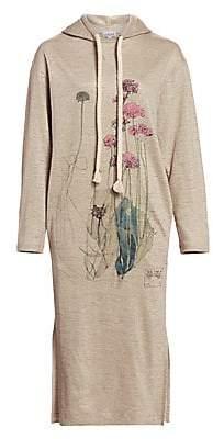 Loewe Women's Linen Botanical Hoodie Dress