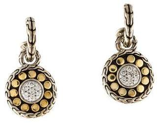John Hardy Diamond Dot Drop Earrings
