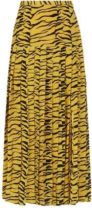 Rixo Tina Pleated Midi Skirt