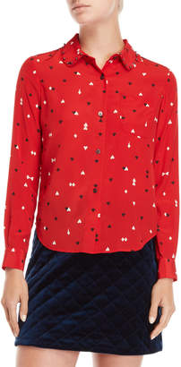Sonia Rykiel Sonia By Card Suite Studded Collar Blouse