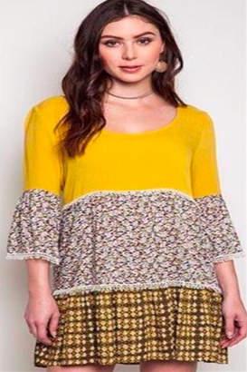 Umgee USA Avocado Tunic Dress