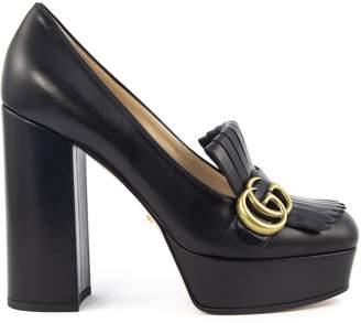 Gucci Black Leather Platform Pump
