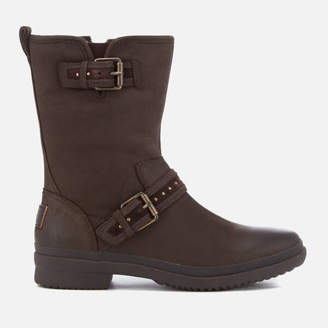 UGG Women's Jenise Waterproof Leather Biker Boots