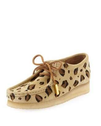 Sycamore Style Women's Suede Moc Wallabee Shoe, Leopard Print