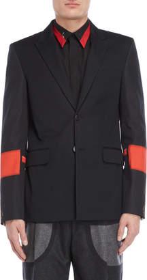 Givenchy Black Printed Sleeve Jacket