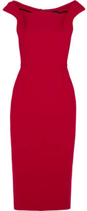 Roland Mouret Maltock Crepe Midi Dress - Crimson