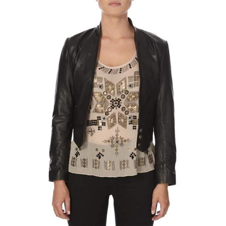 Black Lambs leather Joyce Jacket