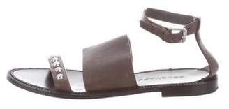 Belstaff Leather Stud-Embellished Sandals