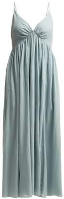 Loup Charmant - Adelaide Cotton Midi Dress - Womens - Light Green