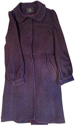 Tocca Burgundy Wool Coat for Women