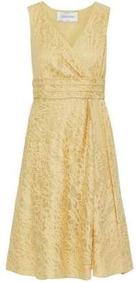 Valentino Cotton And Silk-Blend Lace Dress