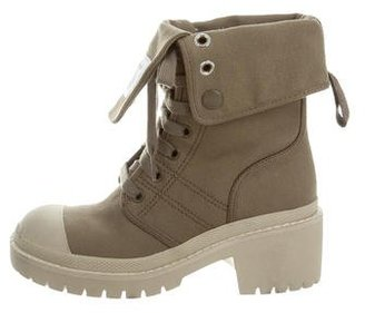 Marc by Marc Jacobs Canvas Mid-Calf Boots w/ Tags $145 thestylecure.com
