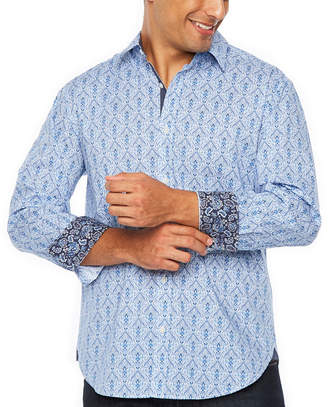 SOCIETY OF THREADS Society Of Threads Long Sleeve Pattern Button-Front Shirt