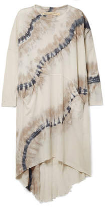 Raquel Allegra Oversized Tie-dyed Cotton-blend Jersey Dress - Stone