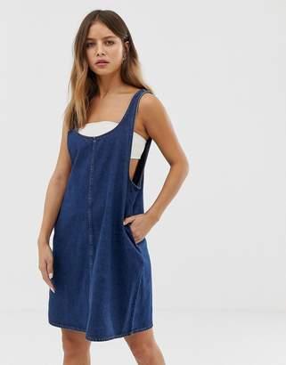 Noisy May denim pinafore dress