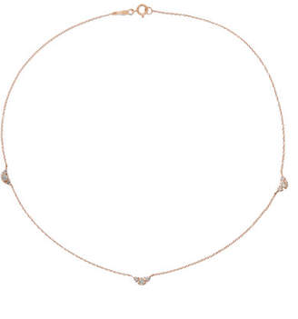 Catbird - Sleeping Beauty 14-karat Rose Gold Diamond Necklace